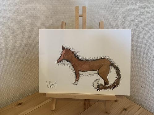 Fuzzy Fox Original Painting