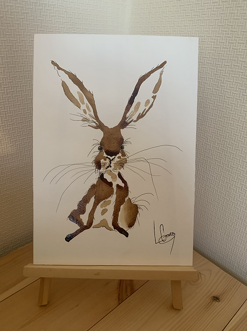 Cheeky Hare Painting