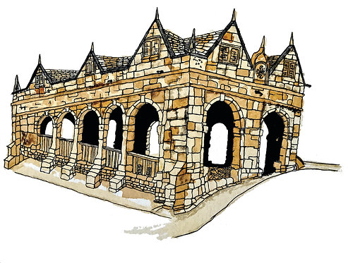 Chipping Campden Market Hall Greetings Card