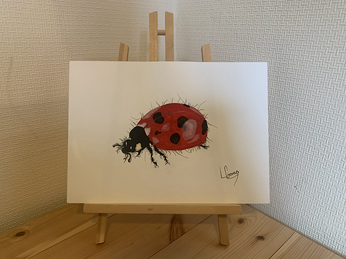 Lady Bug Original A4 Size Painting