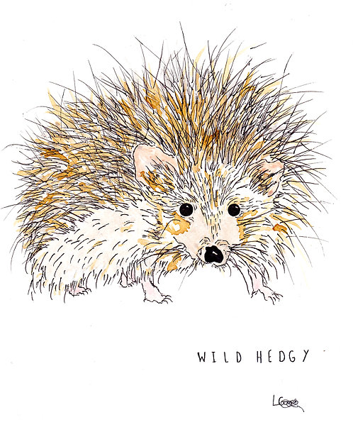 Wild Hedgy Greetings Card