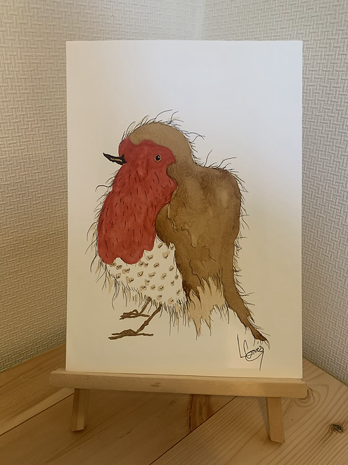 Red Robin Original Painting