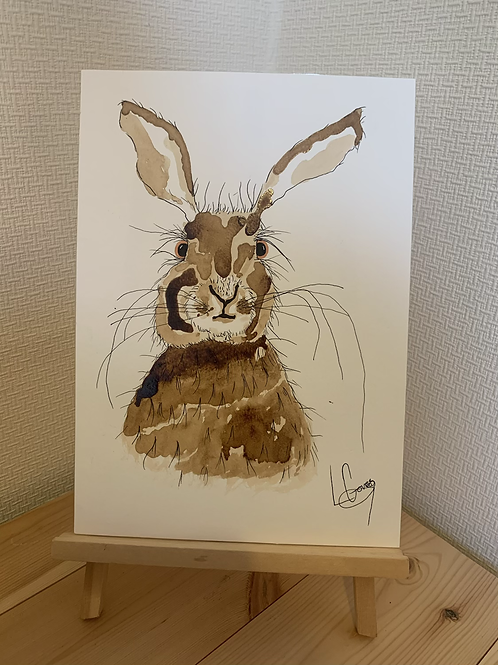 Coffee stain Bunny