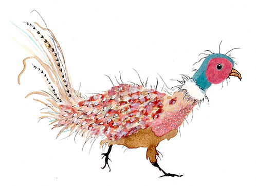 Pink Speckled Pheasant