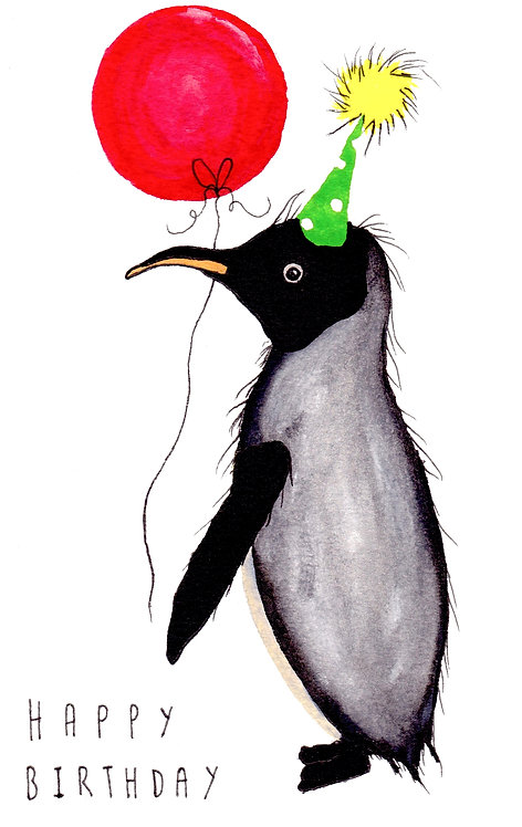 Penguin Happy Birthday Card