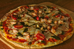 scrumptious Gamberi Al Pesto pizza