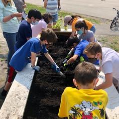 Students Prepare the Soil