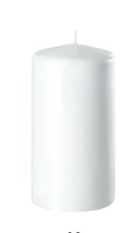 Stumpenkerze Weiß