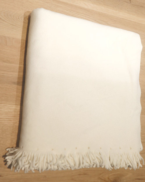 Fleecedecke weiß