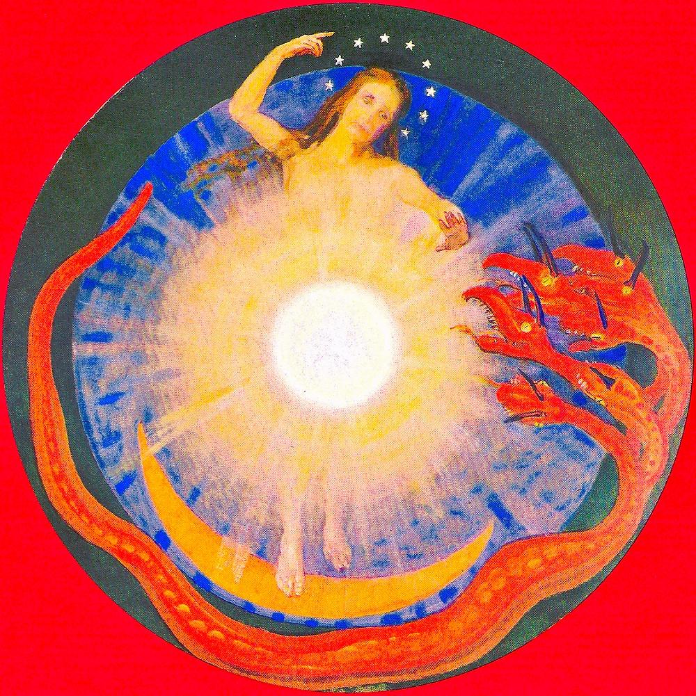 Fünftes Siegel (gemalt von Clara Rettich), Tafel XII