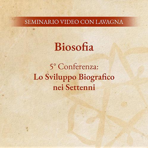 Biosofia – 5° Conferenza: Lo Sviluppo Biografico nei Settenni