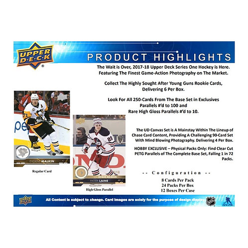 2017-18 UPPER DECK SERIES 1 HOCKEY
