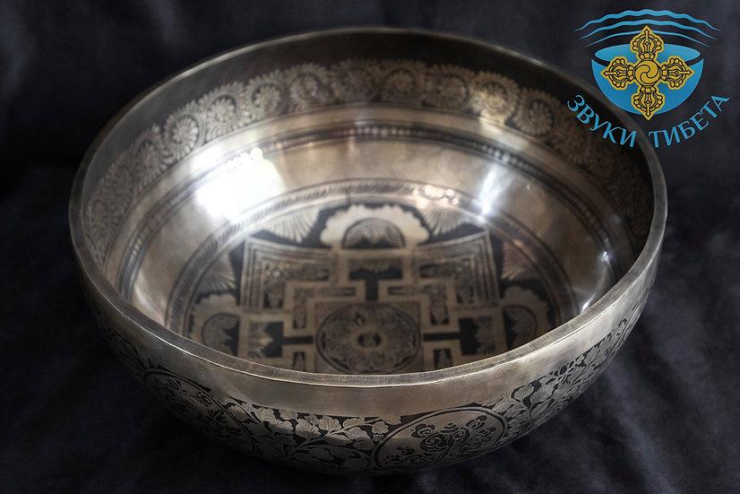 большая кованая поющая чаша непал