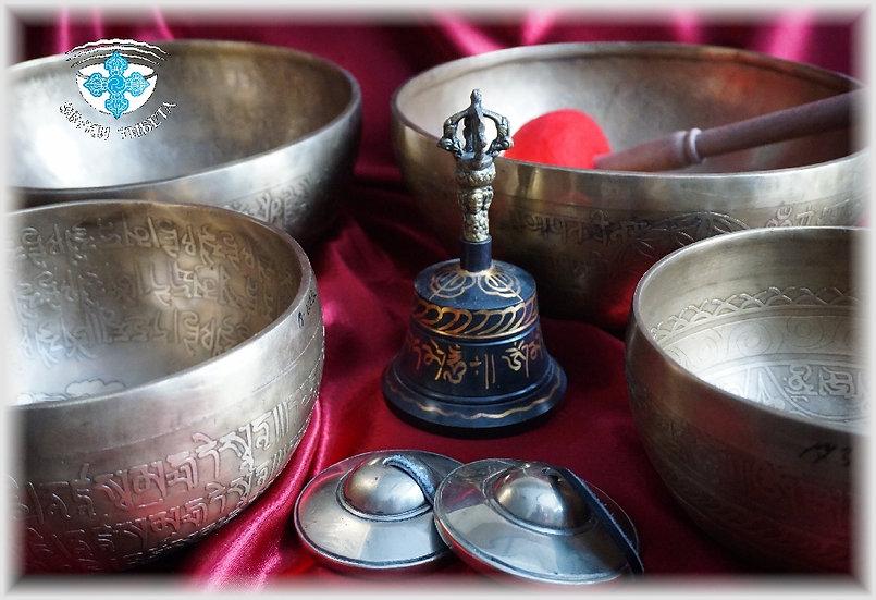 Набор непальских поющих чаш № I. 7 нот - 7 чакр, для массажных практик