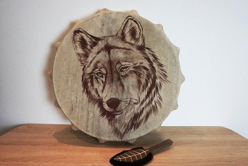 Шаманский Бубен - Волк - 50 см