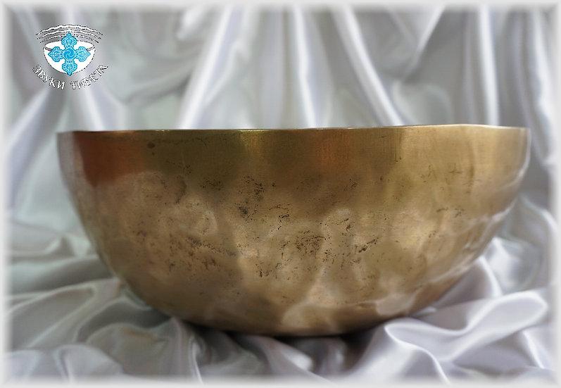 Поющая Чаша – кованая - 38.8 см. - 220 Гц. нота Ля и 70 Гц. нота До диез.