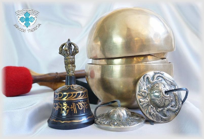 Набор Тибетских Поющих Чаш для Звукотерапии. II# - 7 нот - 7 чакр