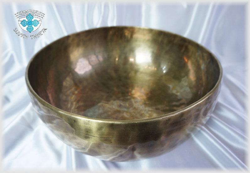 Поющая Чаша – кованая - 37.2 см. - 78 Гц. нота Re#, 229 Гц. нота La#.