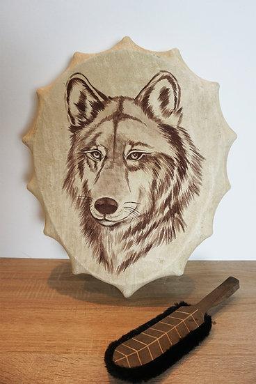 Шаманский Бубен - Волк - 40 см.