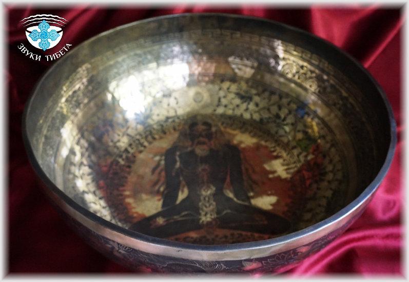 ЭКСКЛЮЗИВНАЯ Тибетская Поющая Чаша -«СЕМЬ ЧАКР» - 53 см. 136 Гц. нота До диез.