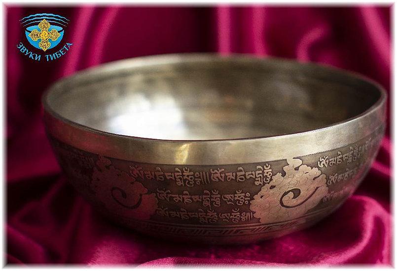 тибетская поющая чаша для медитации