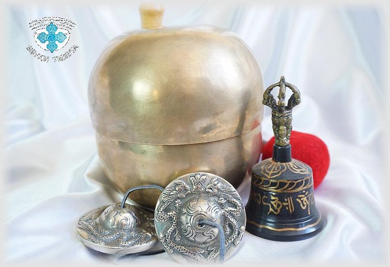 Набор Тибетских Поющих Чаш для Звукотерапии.  - 7 нот - 7 чакр