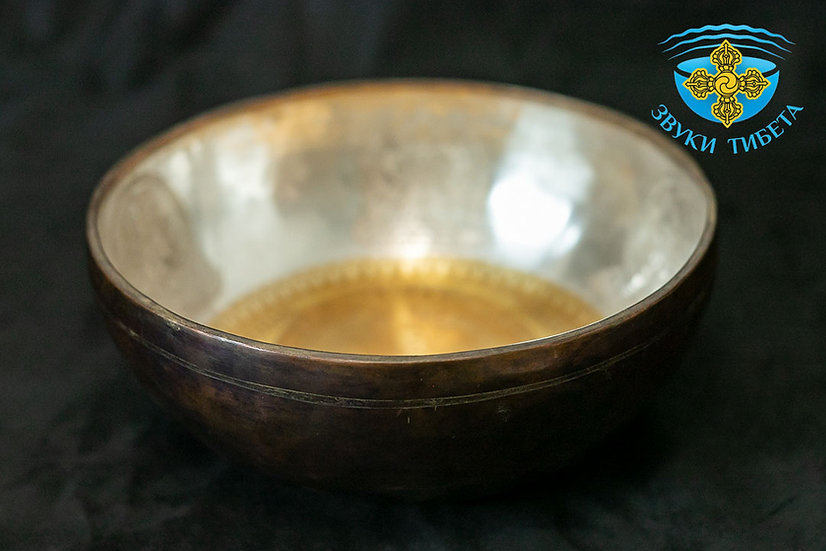 """Поющая чаша """" Premium Gold"""" - """" Зеленая Тара """" - 28 см. - 102 Гц  нота Соль#"""