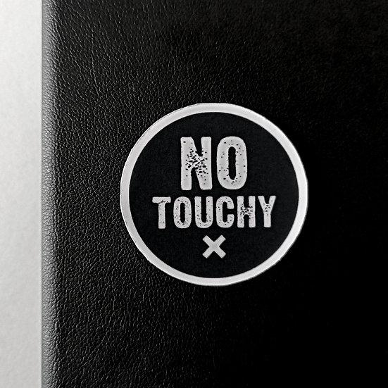No Touchy X Sticker