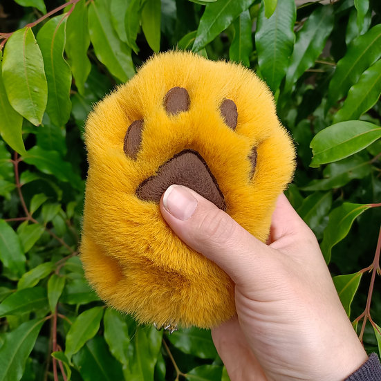 Yellow & Brown Cat Paw - Large