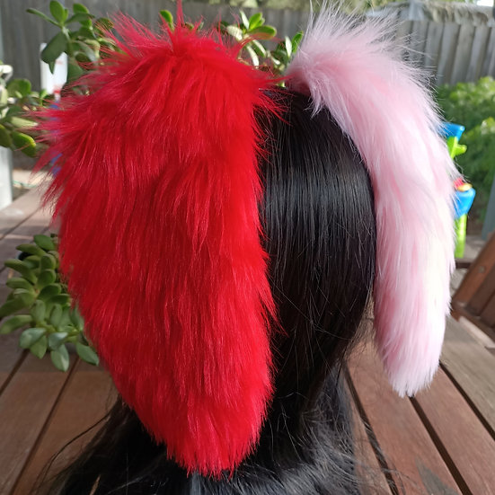 Red + Pink Lop Bunny