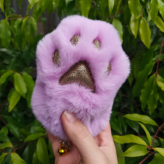 Lilac & Gold Speckle Cat Paw - Large