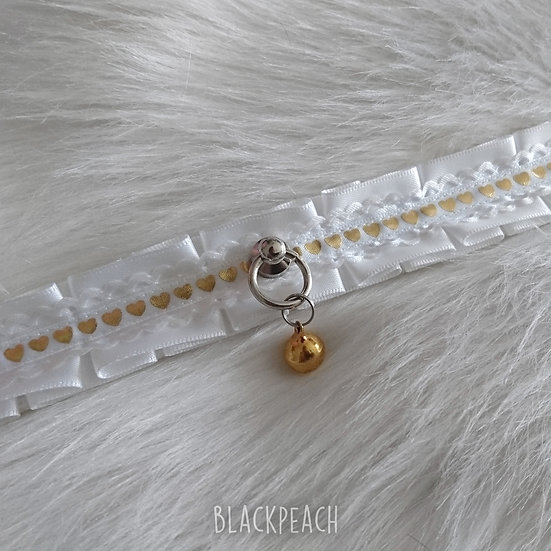 "Gold Hearts Collar - 36.5cm [14.3""]"