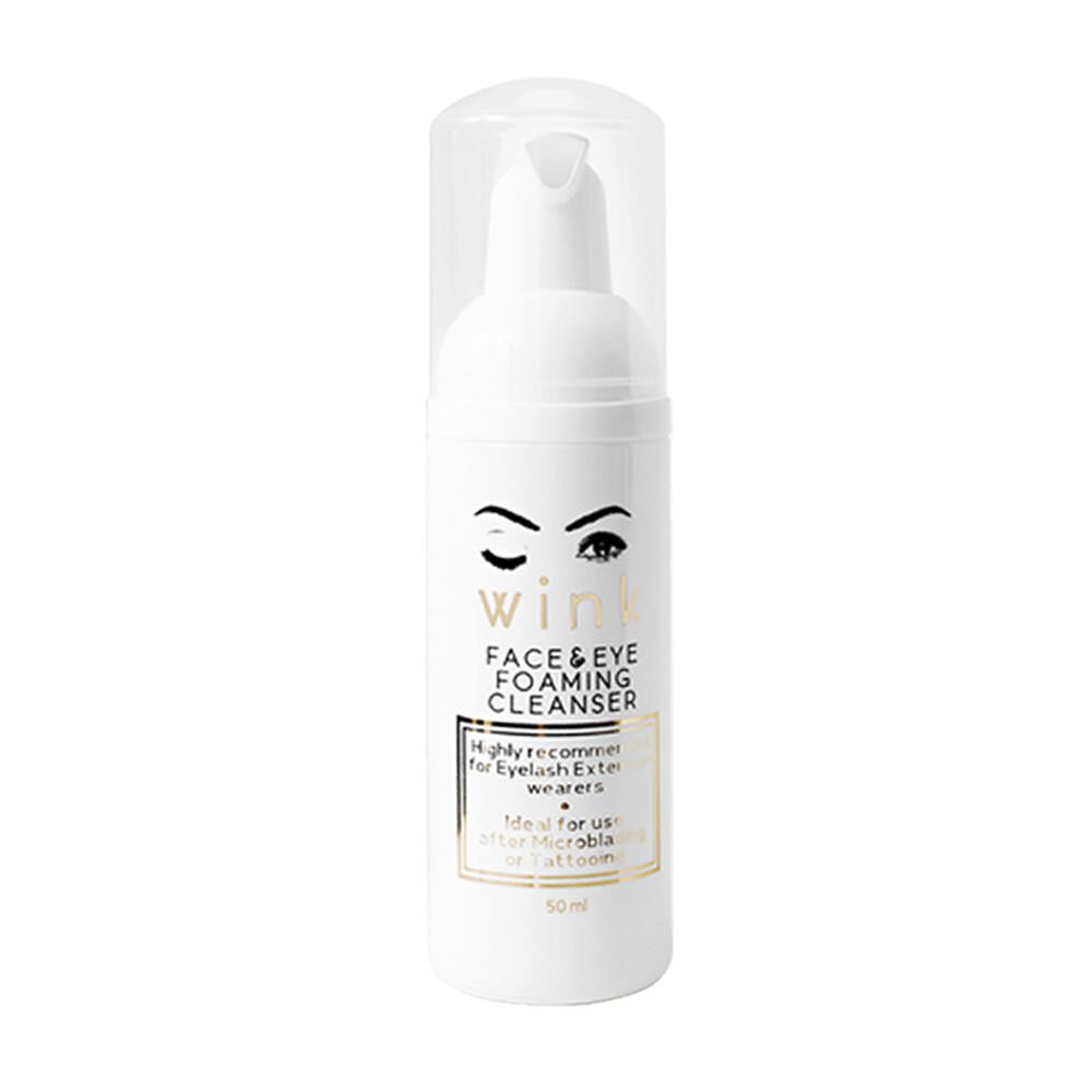 Eyelash extension and eyebrow shampoo cleaner