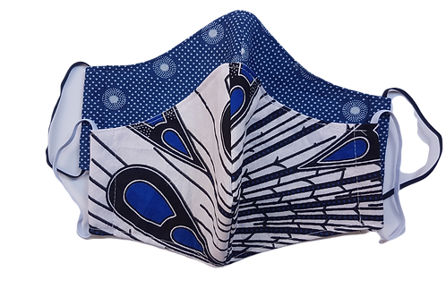 Blue Combo Face Masks 3-ply 2-pack