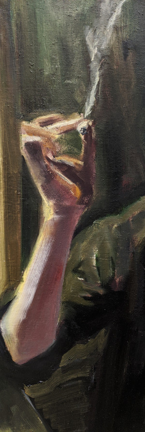 """Detail from """"Ethan"""" (WIP)"""