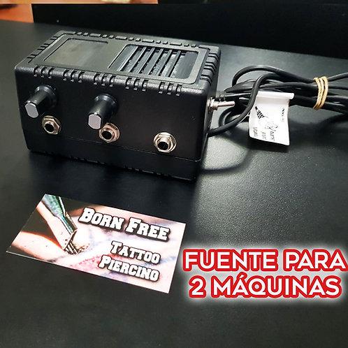 Fuente Doble P/ 2 Máquinas. 15Volts 2 AMP
