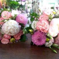 Bouquets des demoiselles d'honneur