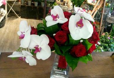 Bouquet roses & Orchidées