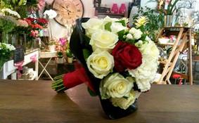 Bouquet rond sur vinyle