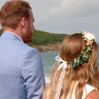 Camille et Matthieu face à l'océan
