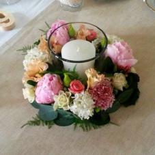 Couronne fleurie et photop