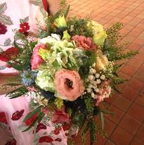 Le bouquet de Camille à l'église