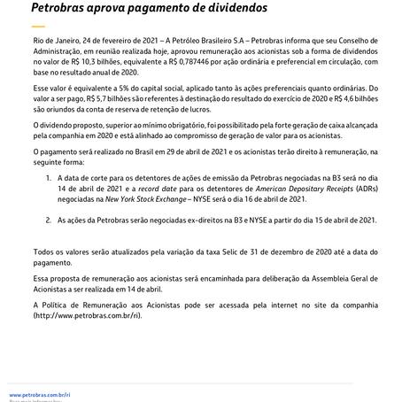 Em meio ao turbilhão, Petrobras anuncia lucro de R$ 7 BI e vai pagar dividendos a acionistas