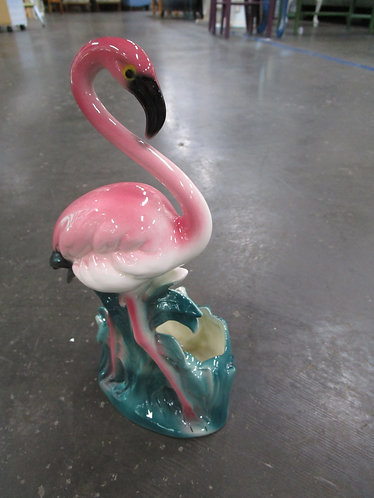 Vintage USA Tropical Flamingo Small Planter
