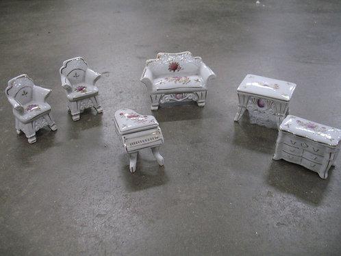 Vintage Empress Japan Porcelain Victorian Doll House Furniture