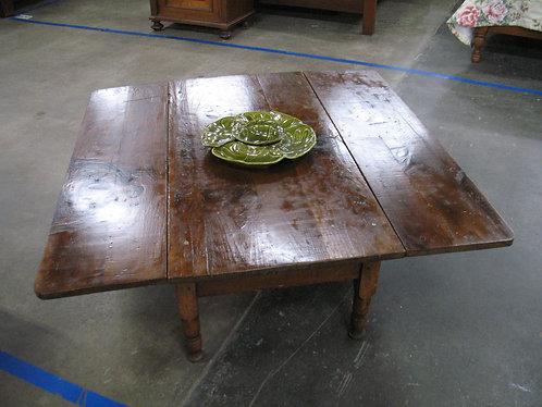 Vintage Rustic Wood Drop Leaf Coffee Table