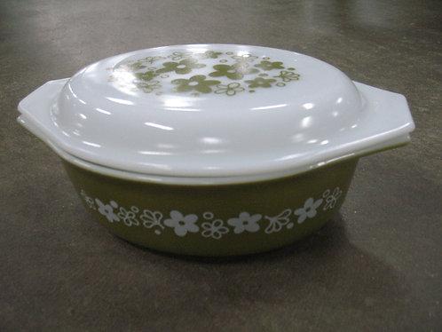 Vintage 1 1/2 Quart Pyrex Spring Blossom Casserole Dish with Lid