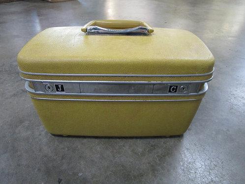 Vintage Gold Monogrammed JC Samsonite Makeup Train Case