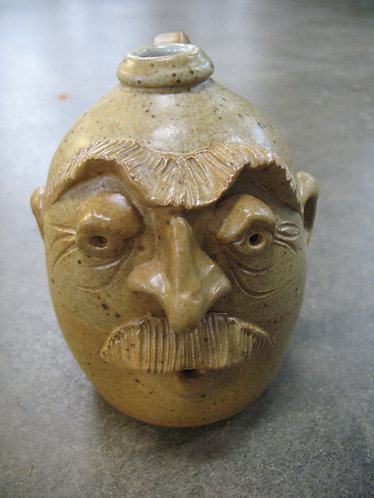 Yellow Speckled Ugly Face Jug