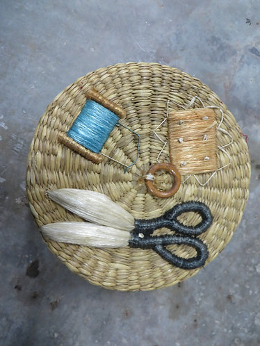 Vintage Bags By Patricia Woven Sewing Basket